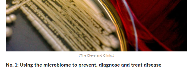 No. 1: Using the microbiome to prevent, diagnose and treat disease
